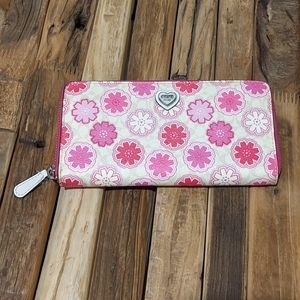 Coach Waverly Zip Around Floral Leather Wallet